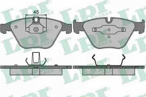 LPR 05P1510 - Piduriklotsi komplekt,ketaspidur multiparts.ee