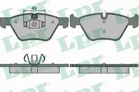 LPR 05P1511 - Piduriklotsi komplekt,ketaspidur multiparts.ee