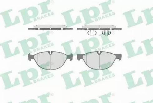 LPR 05P1518 - Piduriklotsi komplekt,ketaspidur multiparts.ee