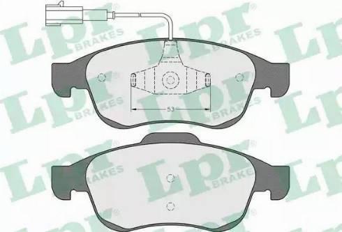 LPR 05P1535 - Piduriklotsi komplekt,ketaspidur multiparts.ee