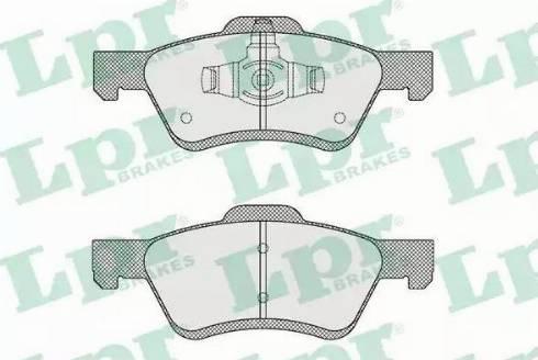 LPR 05P1622 - Piduriklotsi komplekt,ketaspidur multiparts.ee