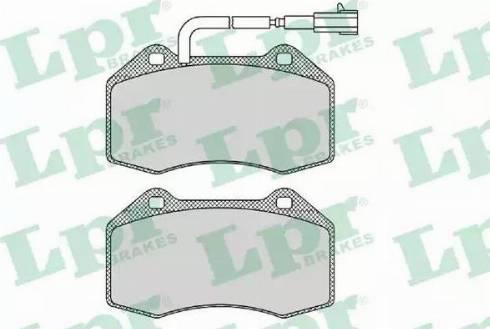 LPR 05P1670 - Piduriklotsi komplekt,ketaspidur multiparts.ee