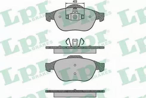 LPR 05P1678 - Piduriklotsi komplekt,ketaspidur multiparts.ee