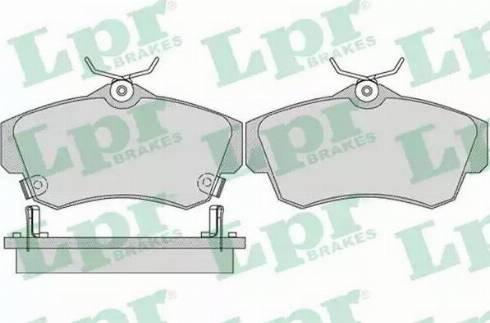LPR 05P1061 - Piduriklotsi komplekt,ketaspidur multiparts.ee