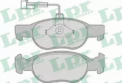 LPR 05P1075 - Piduriklotsi komplekt,ketaspidur multiparts.ee