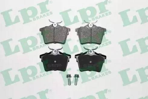 LPR 05P1195 - Piduriklotsi komplekt,ketaspidur multiparts.ee
