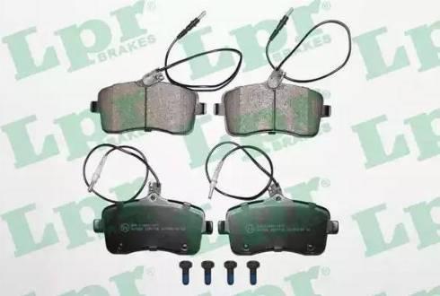 LPR 05P1196 - Piduriklotsi komplekt,ketaspidur multiparts.ee