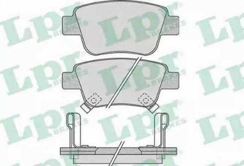LPR 05P1113 - Piduriklotsi komplekt,ketaspidur multiparts.ee