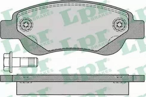LPR 05P1235 - Piduriklotsi komplekt,ketaspidur multiparts.ee