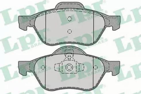 LPR 05P1279 - Piduriklotsi komplekt,ketaspidur multiparts.ee