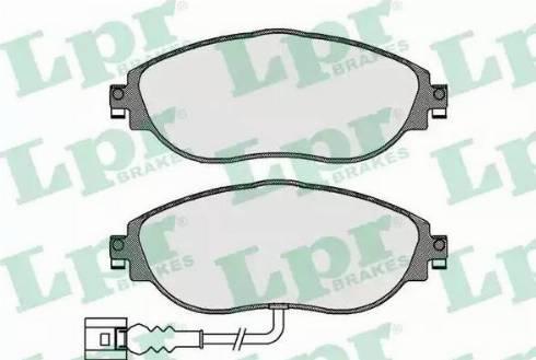 LPR 05P1734 - Piduriklotsi komplekt,ketaspidur multiparts.ee
