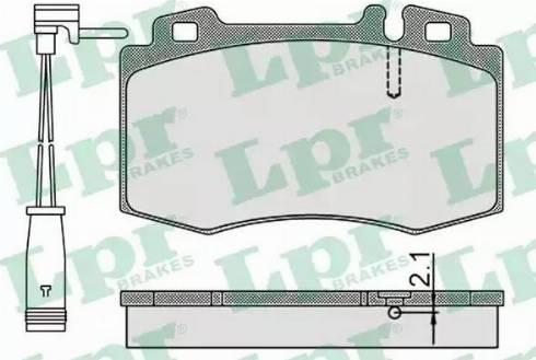 LPR 05P899A - Piduriklotsi komplekt,ketaspidur multiparts.ee