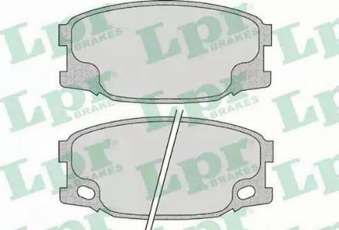 LPR 05P893 - Piduriklotsi komplekt,ketaspidur multiparts.ee