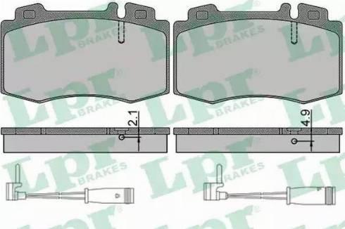 LPR 05P849A - Piduriklotsi komplekt,ketaspidur multiparts.ee