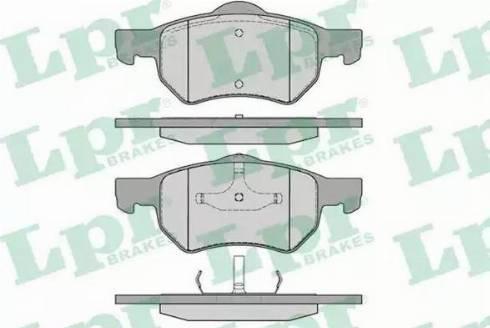 LPR 05P841 - Piduriklotsi komplekt,ketaspidur multiparts.ee