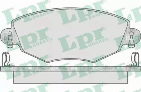 LPR 05P865 - Piduriklotsi komplekt,ketaspidur multiparts.ee