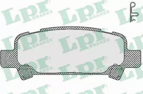LPR 05P838 - Piduriklotsi komplekt,ketaspidur multiparts.ee