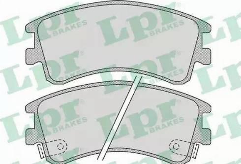 LPR 05P878 - Piduriklotsi komplekt,ketaspidur multiparts.ee