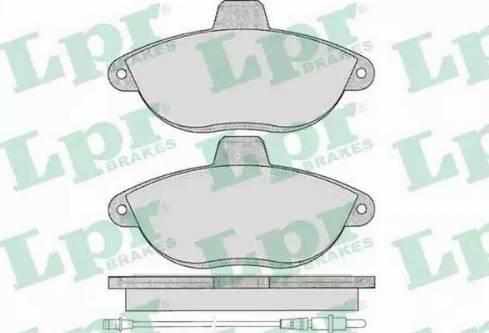 LPR 05P346 - Piduriklotsi komplekt,ketaspidur multiparts.ee