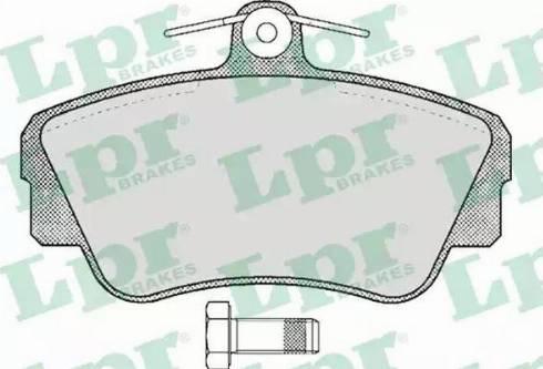 LPR 05P347 - Piduriklotsi komplekt,ketaspidur multiparts.ee