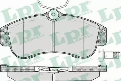 LPR 05P355 - Piduriklotsi komplekt,ketaspidur multiparts.ee