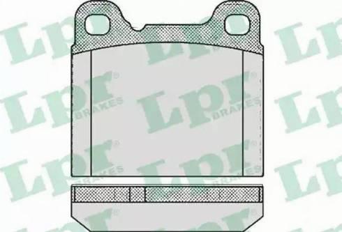 LPR 05P362 - Piduriklotsi komplekt,ketaspidur multiparts.ee