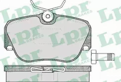 LPR 05P302 - Piduriklotsi komplekt,ketaspidur multiparts.ee