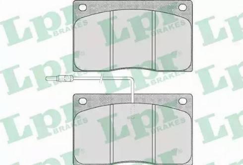 LPR 05P372 - Piduriklotsi komplekt,ketaspidur multiparts.ee