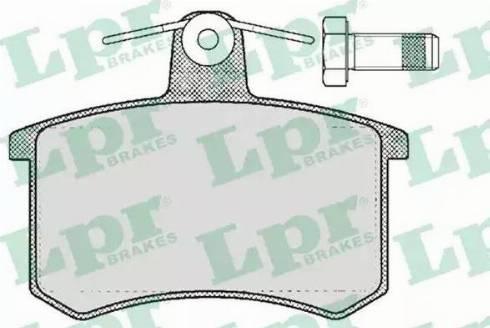 LPR 05P215 - Piduriklotsi komplekt,ketaspidur multiparts.ee