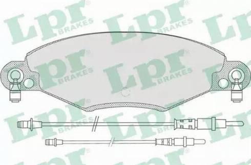 LPR 05P799 - Piduriklotsi komplekt,ketaspidur multiparts.ee