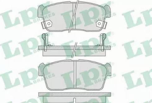 LPR 05P796 - Piduriklotsi komplekt,ketaspidur multiparts.ee