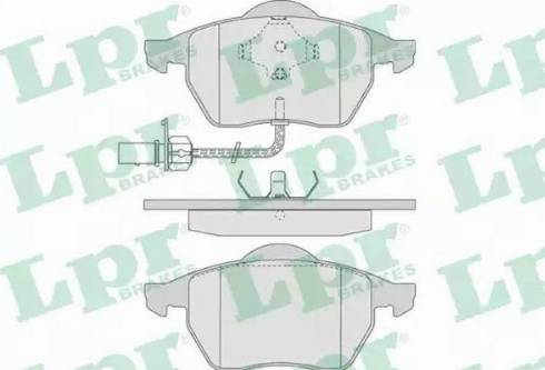 LPR 05P790 - Piduriklotsi komplekt,ketaspidur multiparts.ee