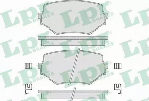 LPR 05P798 - Piduriklotsi komplekt,ketaspidur multiparts.ee