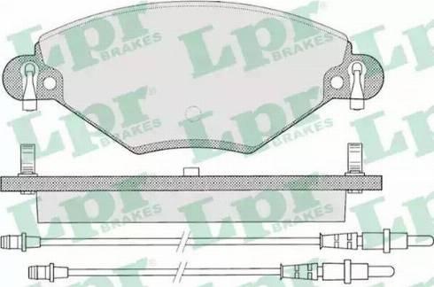 LPR 05P793 - Piduriklotsi komplekt,ketaspidur multiparts.ee