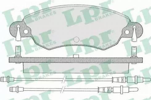 LPR 05P792 - Piduriklotsi komplekt,ketaspidur multiparts.ee