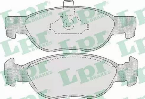 LPR 05P740 - Piduriklotsi komplekt,ketaspidur multiparts.ee