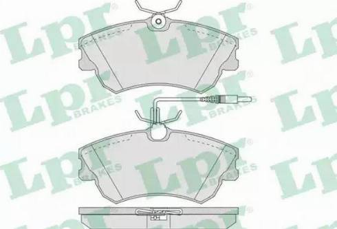 LPR 05P750 - Piduriklotsi komplekt,ketaspidur multiparts.ee