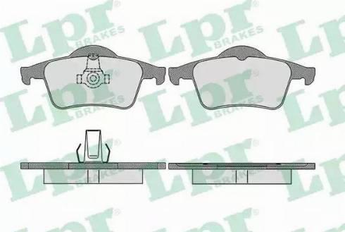 LPR 05P705 - Piduriklotsi komplekt,ketaspidur multiparts.ee