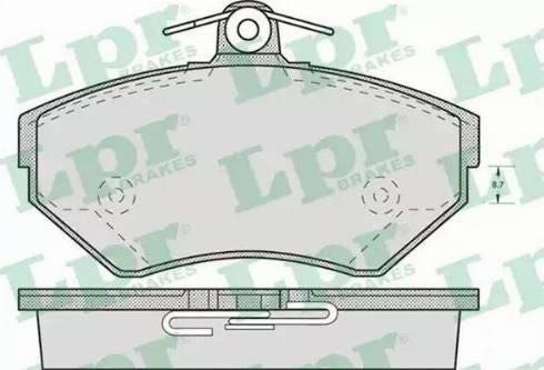 LPR 05P719 - Piduriklotsi komplekt,ketaspidur multiparts.ee