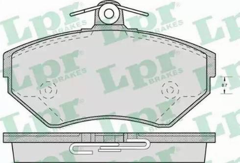 LPR 05P718 - Piduriklotsi komplekt,ketaspidur multiparts.ee