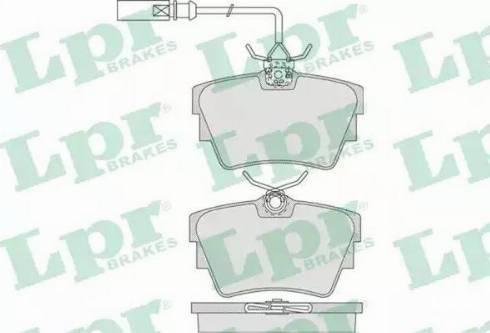 LPR 05P786 - Piduriklotsi komplekt,ketaspidur multiparts.ee