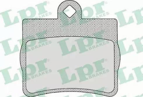 LPR 05P725 - Piduriklotsi komplekt,ketaspidur multiparts.ee