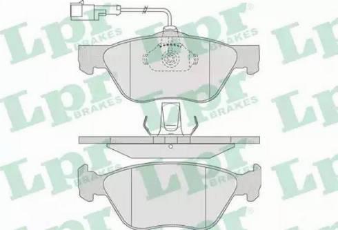 LPR 05P720 - Piduriklotsi komplekt,ketaspidur multiparts.ee