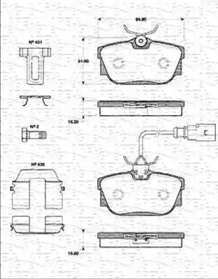 Cifam 822-346-2 - Piduriklotsi komplekt,ketaspidur multiparts.ee