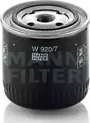 Mann-Filter W 920/7 - Filter,tööhüdraulika multiparts.ee