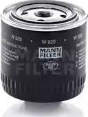 Mann-Filter W 920 - Filter,tööhüdraulika multiparts.ee