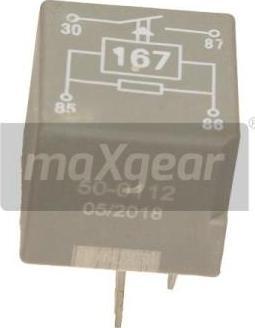 Maxgear 50-0112 - Relee, Kütusepump multiparts.ee