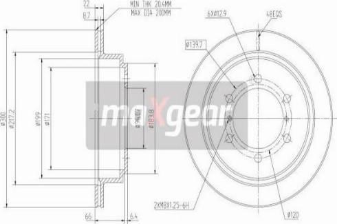 Maxgear 19-0949 - Piduriketas multiparts.ee