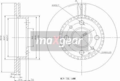 Maxgear 19-0950 - Piduriketas multiparts.ee