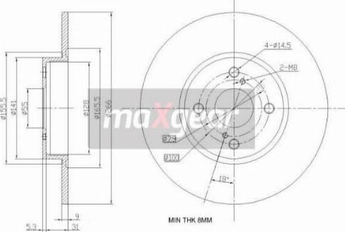 Maxgear 19-0965 - Piduriketas multiparts.ee